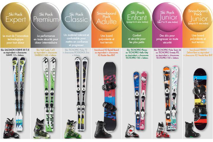 Offre location de matériel de ski